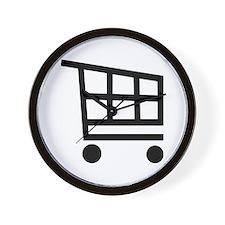 Shopping cart Wall Clock