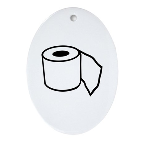 Toilet paper Ornament (Oval)