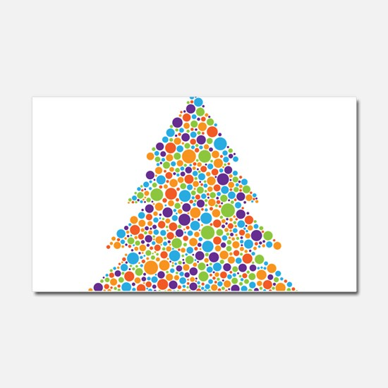 Tree of Dots Car Magnet 20 x 12