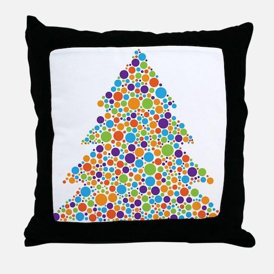 Tree of Dots Throw Pillow