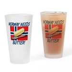 Norway Needs Butter Drinking Glass