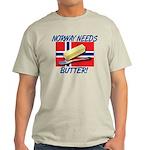 Norway Needs Butter Light T-Shirt