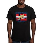 Norway Needs Butter Men's Fitted T-Shirt (dark)