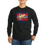 Norway Needs Butter Long Sleeve Dark T-Shirt