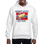 Norway Needs Butter Hooded Sweatshirt