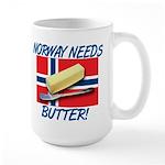 Norway Needs Butter Large Mug