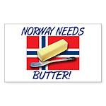 Norway Needs Butter Sticker (Rectangle)
