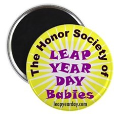Leap Day Baby logo Magnet