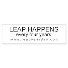 LEAP HAPPENS Bumper Sticker