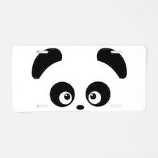 Love Panda Aluminum License Plate