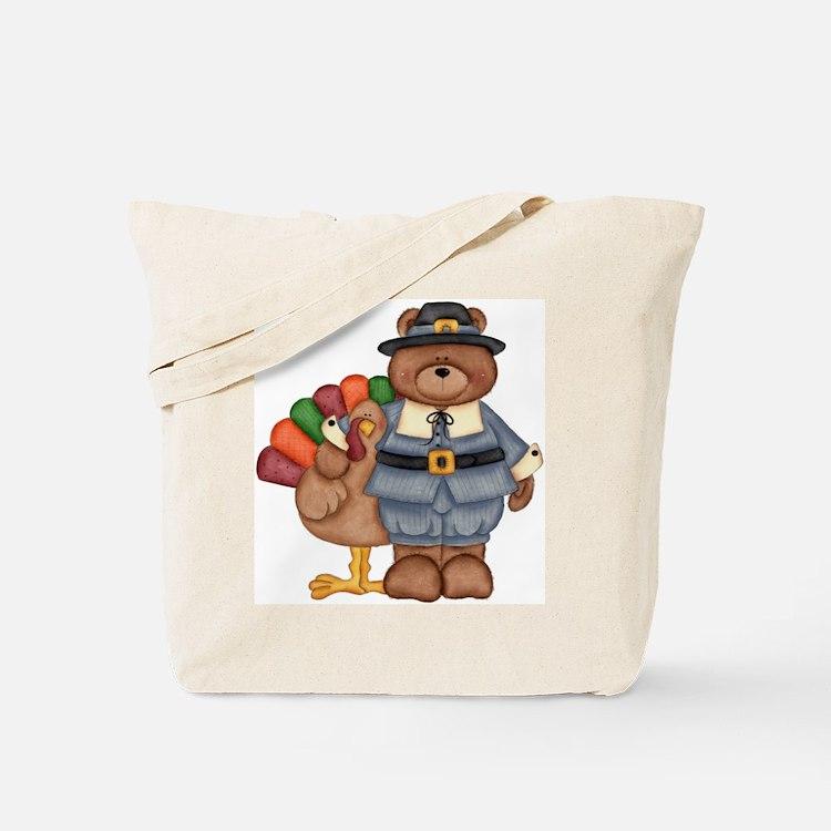 Thanksgiving Bear Tote Bag