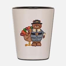Thanksgiving Bear Shot Glass