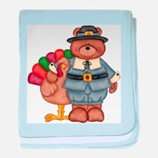 Thanksgiving Bear baby blanket