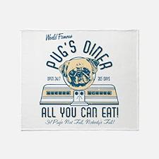 Pug's Diner Throw Blanket