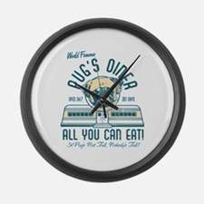 Pug's Diner Large Wall Clock