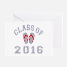 Class Of 2016 Flip Flop Greeting Card