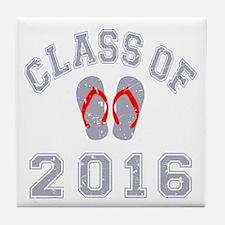 Class Of 2016 Flip Flop Tile Coaster