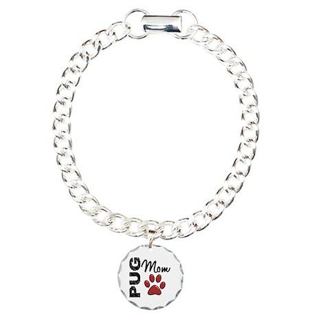 Pug Mom 2 Charm Bracelet, One Charm