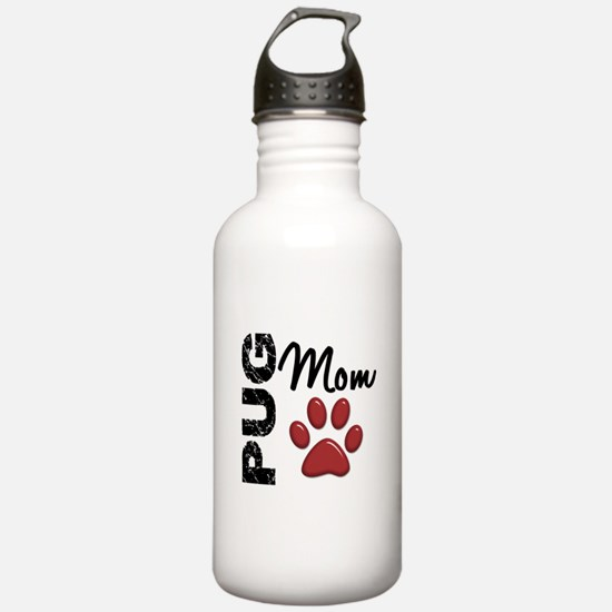 Pug Mom 2 Water Bottle