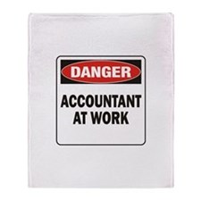 Accountant Throw Blanket