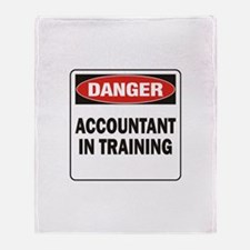Accountant Throw Blanket