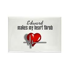 Edward makes my heart throb Rectangle Magnet