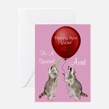 Happy New Year To Aunt Greeting Card