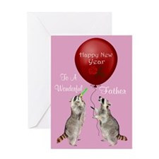 Happy New Year To Father Greeting Card