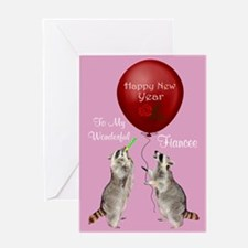 Happy New Year To Fiancee Greeting Card
