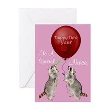 Happy New Year To Niece Greeting Card