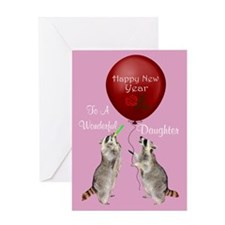 Happy New Year To Son Greeting Card