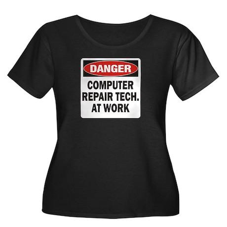 Computer Women's Plus Size Scoop Neck Dark T-Shirt