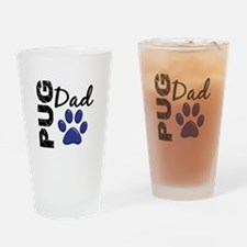 Pug Dad 2 Drinking Glass