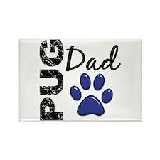 Pug Dad 2 Rectangle Magnet