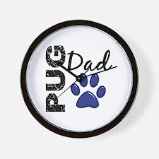 Pug Dad 2 Wall Clock