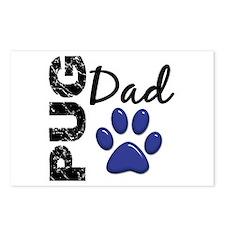 Pug Dad 2 Postcards (Package of 8)