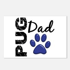 Pug Dad 2 Postcards (Package of 8)