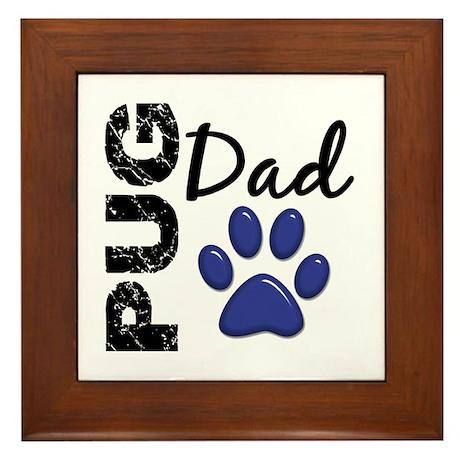 Pug Dad 2 Framed Tile