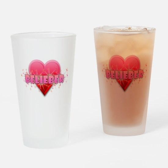Belieber Drinking Glass