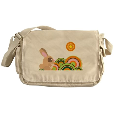 """Woodland Bunny"" Messenger Bag"