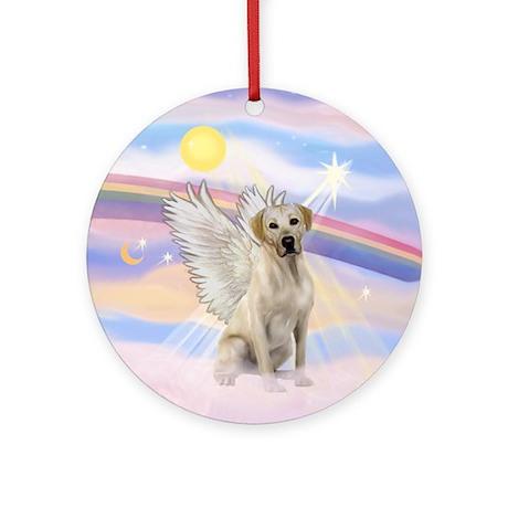 Yellow Labrador Angel Ornament (Round)