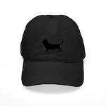 Basset Hound Silhouette Black Cap