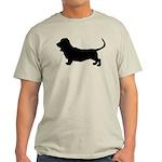 Basset Hound Silhouette Light T-Shirt