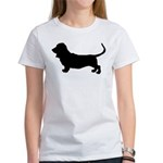 Basset Hound Silhouette Women's T-Shirt