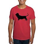 Basset Hound Silhouette Dark T-Shirt
