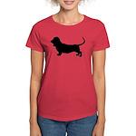 Basset Hound Silhouette Women's Dark T-Shirt