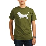 Basset Hound Silhouette Organic Men's T-Shirt (dar