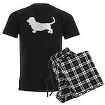 Basset Hound Silhouette Men's Dark Pajamas