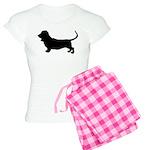 Basset Hound Silhouette Women's Light Pajamas
