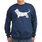 Basset Hound Silhouette Sweatshirt (dark)